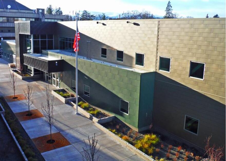 Photo of the outside of county health building.