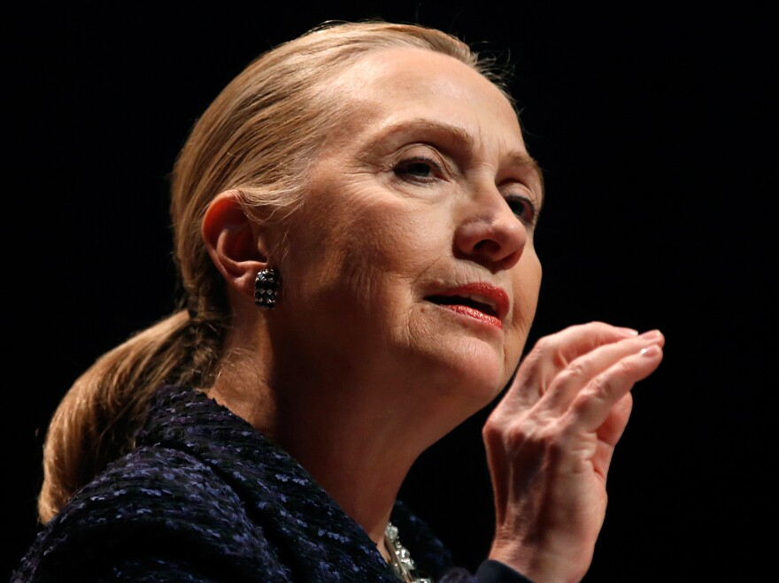 Secretary of State Hillary Clinton on Dec. 6 in Dublin.