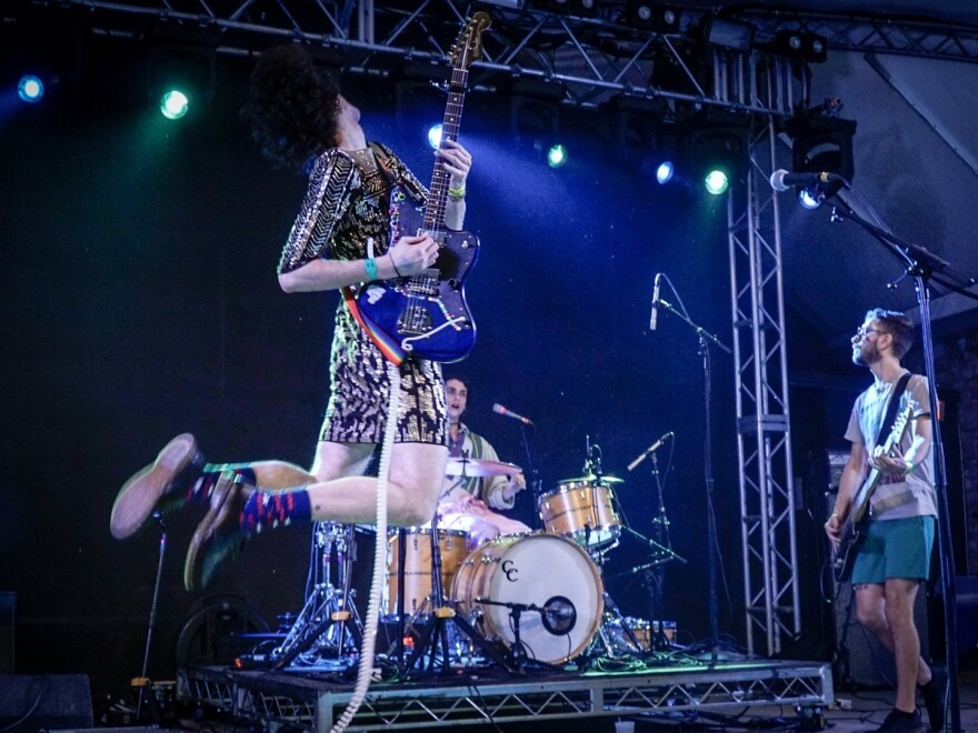 PWR BTTM plays NPR Music's showcase at Stubb's BBQ, and Bob Boilen captures one of his favorite photographs of all time.