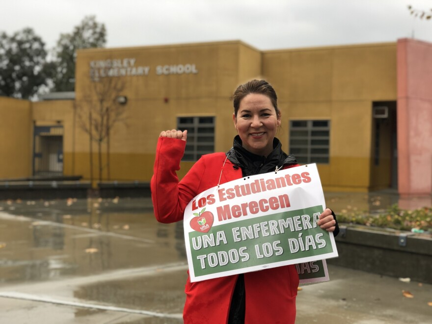 Maria Gonzalez, a kindergarten teacher at Kingsley Elementary School in East Hollywood, says she's excited to fight for her students.