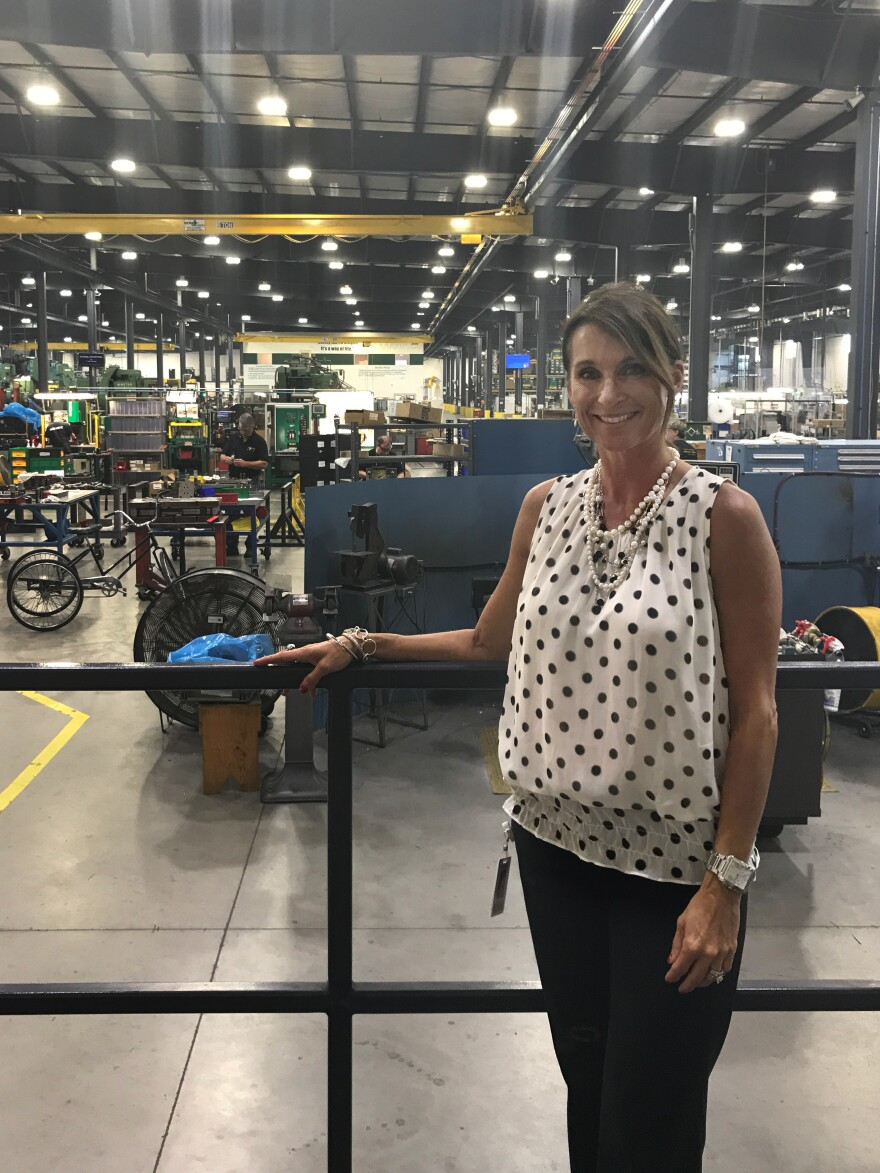 Susan Carlock is the co-owner and vice president of business development for Mursix Corp. She says opioids are hurting productivity at the metal parts maker.