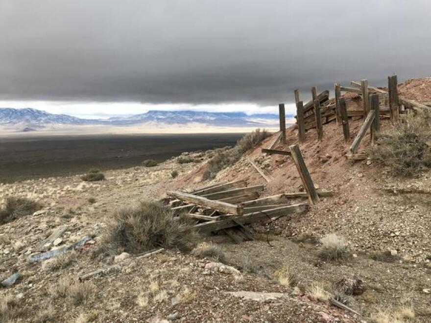 The remnants of a 19th century mining bonanza in the San Francisco Mountains in southwestern Utah.