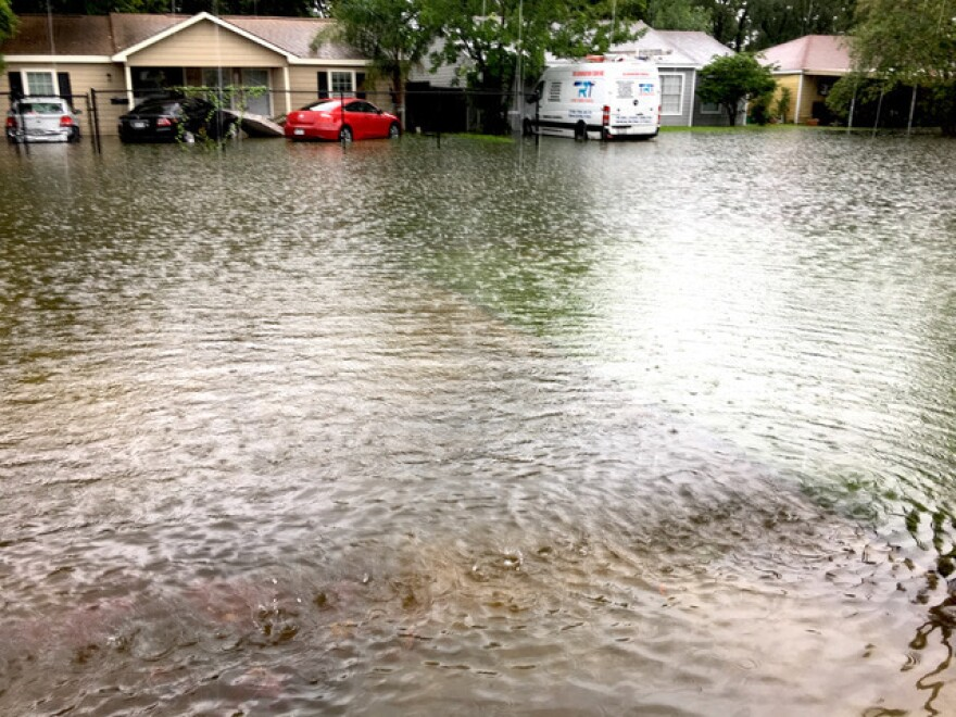Brenda Harland, the mother of Eric Harland, took this photo from her porch in the Pleasantville neighborhood of Houston.