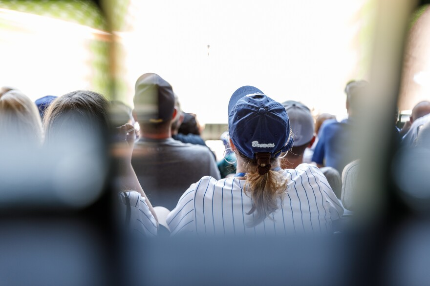 Fans watch the game against the Seattle Mariners. New stadiums became new revenue generators. But there were often fierce battles over public funding for the projects, including Miller Park.