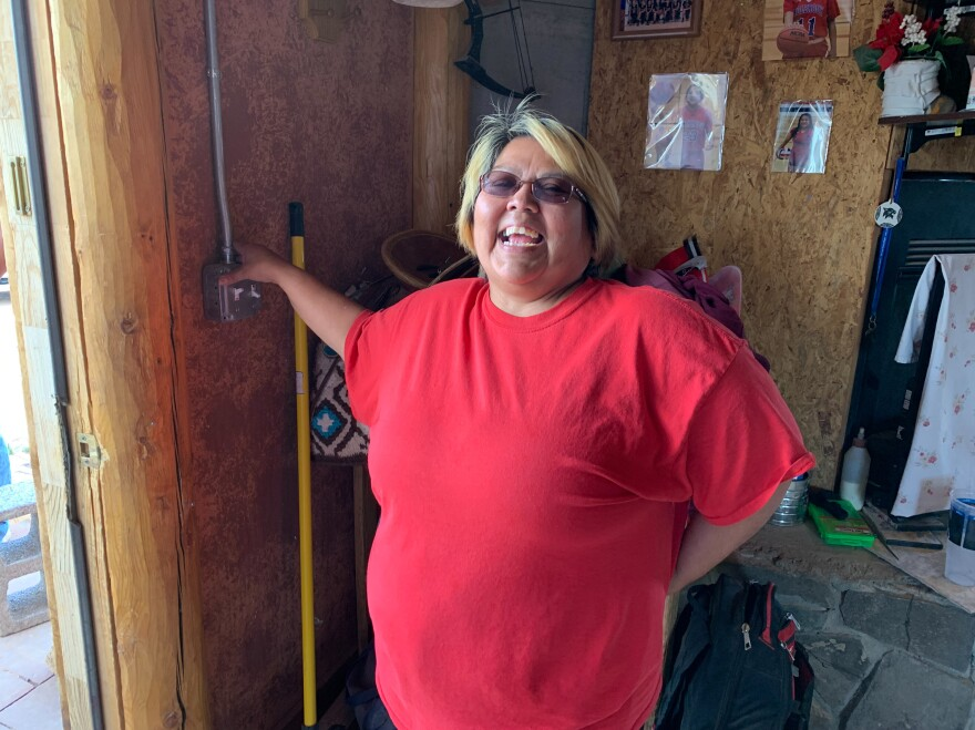 Neda Billie says she's so excited to turn the lights on in her home on the Navajo Nation. About 10% of Navajos on the reservation live without electricity, and as much as 40% have to haul their water and use outhouses.