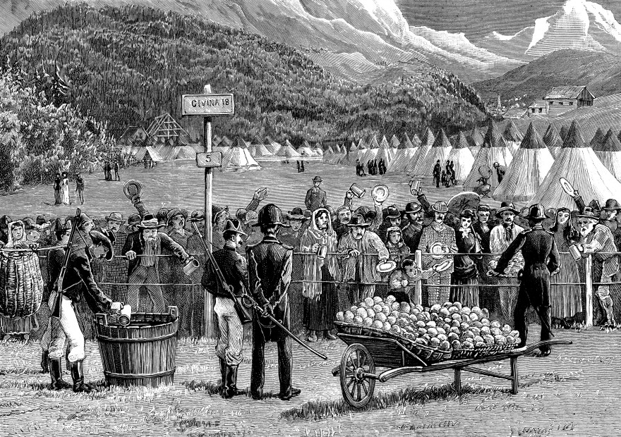 In the 1890s, travelers from Switzerland were quarantined in Italy to make sure they didn't have cholera.