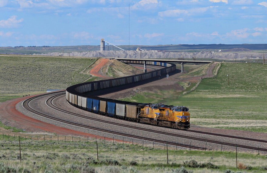 A coal train in the Powder River Basin.