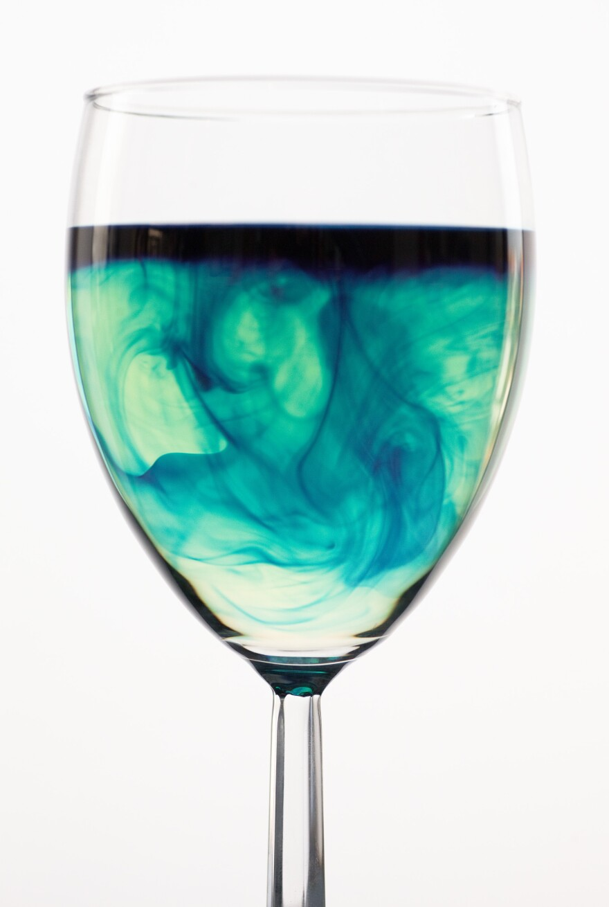 """For Jaime Smith, a synesthetic sommelier, a white wine like Nosiola has a """"beautiful aquamarine, flowy, kind of wavy color to it."""""""
