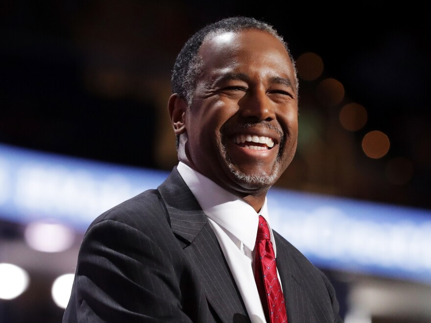 Retired neurosurgeon Dr. Ben Carson speaks at the Republican National Convention on July 19 in Cleveland.