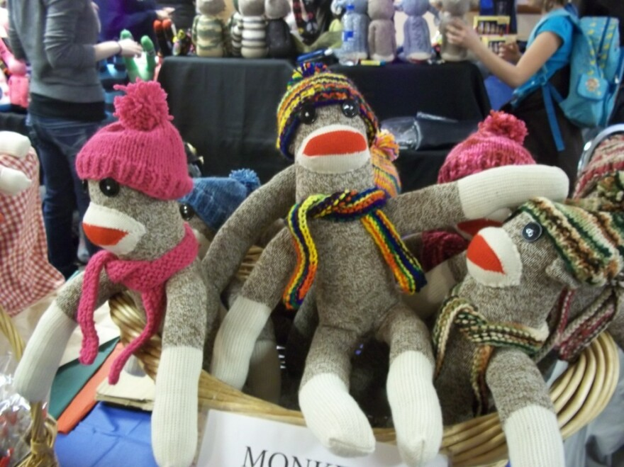 Sock Monkeys at the 8th annual Sock Monkey Madness Festival in Rockford, Ill.