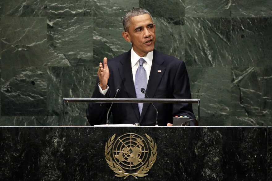 President Obama addresses the 69th session of the U.N. General Assembly on Wednesday.