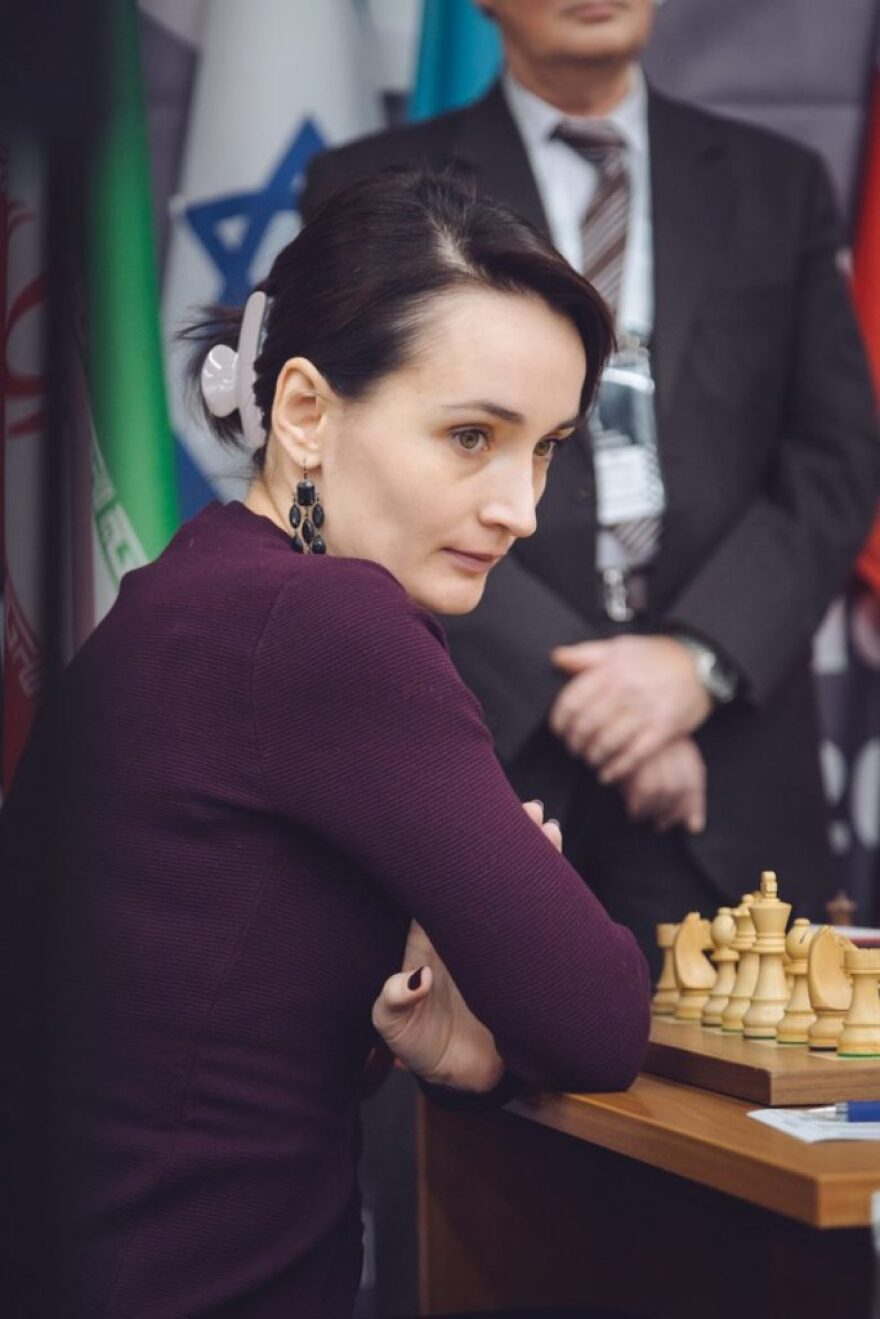 Grandmaster Kateryna Lagno at the Women's World Chess Championship in November 2018 in Khanty-Mansiysk, Russia.