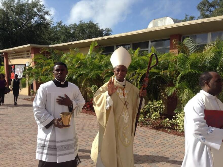 Cardinal Chibly Langlois celebrated mass in Little Haiti Nov. 23. Earlier this year he was named the first Haitian cardinal in history.