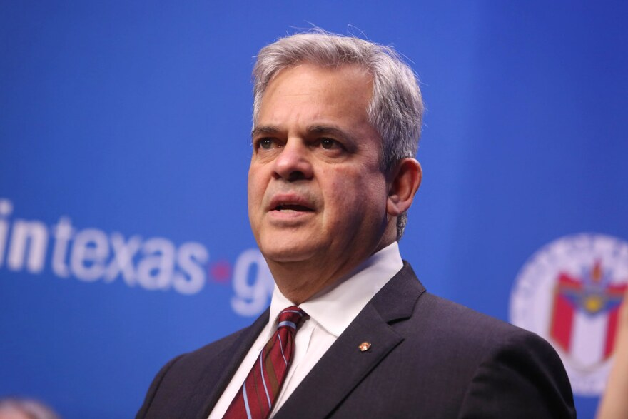 Austin Mayor Steve Adler speaks during a news conference announcing the cancellation of South by Southwest on March 6.