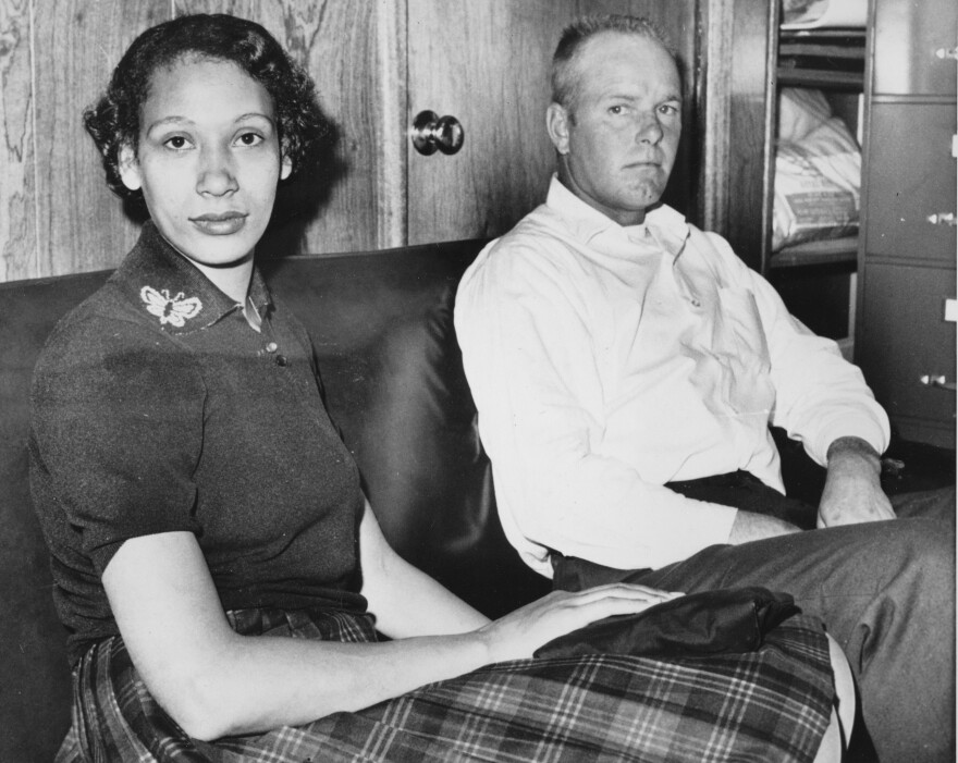 Mildred Loving and her husband, Richard P. Loving, are shown on Jan. 26, 1965. In 1967, the ruling in the Lovings' Supreme Court case officially legalized interracial marriage.