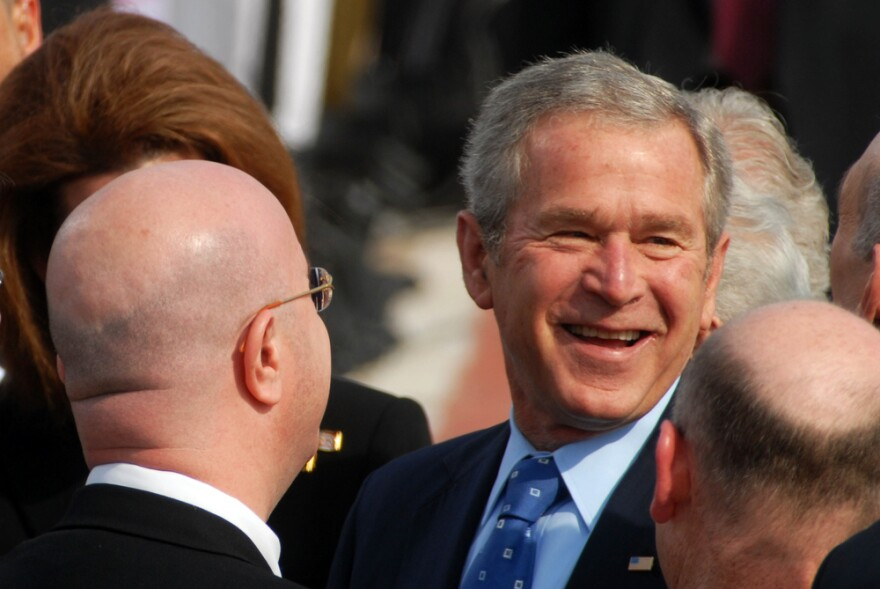 While never mentioning President Trump by name, former President George W. Bush appeared to be pushing back on Trump's attempts to have warmer relations with Russia, as well as his comments on immigration.