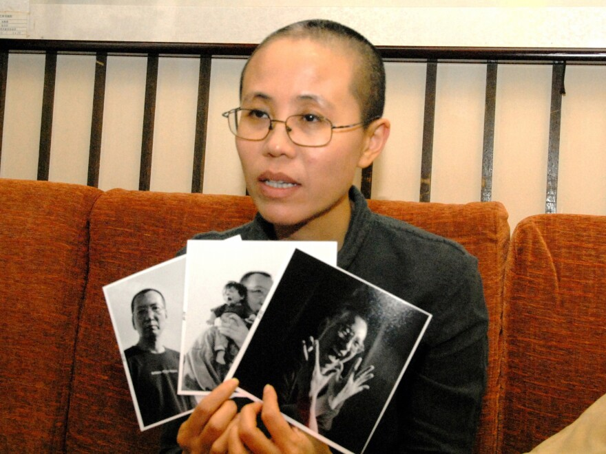 Liu Xia spoke during an October 2009 press conference in Beijing.