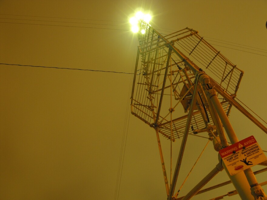 Moontower at night