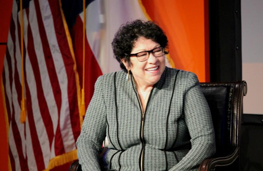 Supreme Court Justice Sonia Sotomayor speaks at UTSA Jan. 25, 2018.
