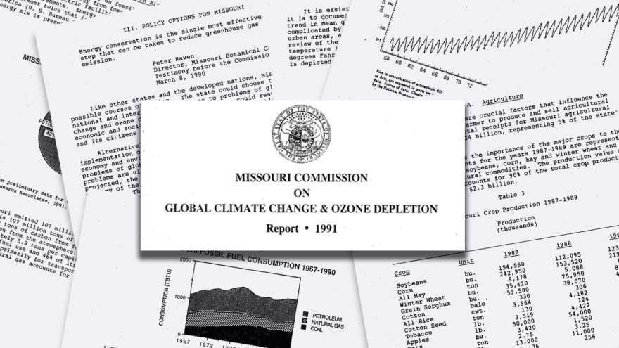 The Missouri Commission on Global Climate Change and Ozone Depletion released their policy suggestions in December 1991.