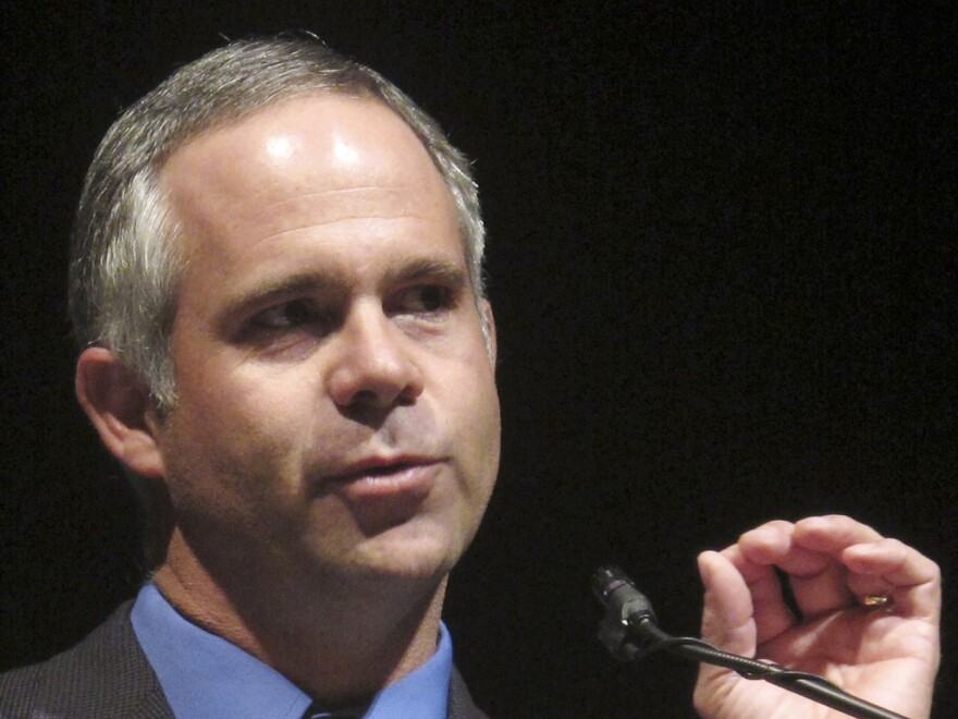 """Rep. Tim Huelskamp, R-Kan., shown in 2010, has said he would deserve a primary challenge if he voted for House Speaker John Boehner's """"fiscal cliff"""" proposal, which would extend the Bush-era tax cuts only on income of less than $1 million."""