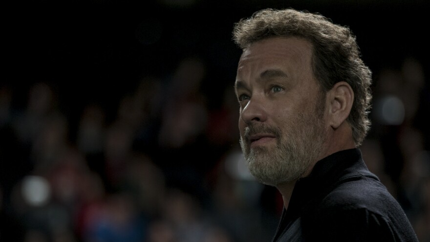 """""""The question of complete control and complete dominance of a marketplace means complete control and complete dominance of your daily life,"""" Tom Hanks says. He plays the co-founder of a giant tech company in the new film <em>The Circle.</em>"""