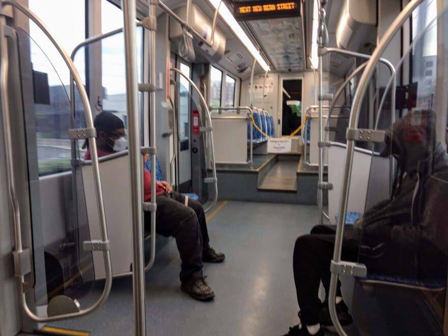 Some riders on Lynx Blue Line trains are wearing masks these days.