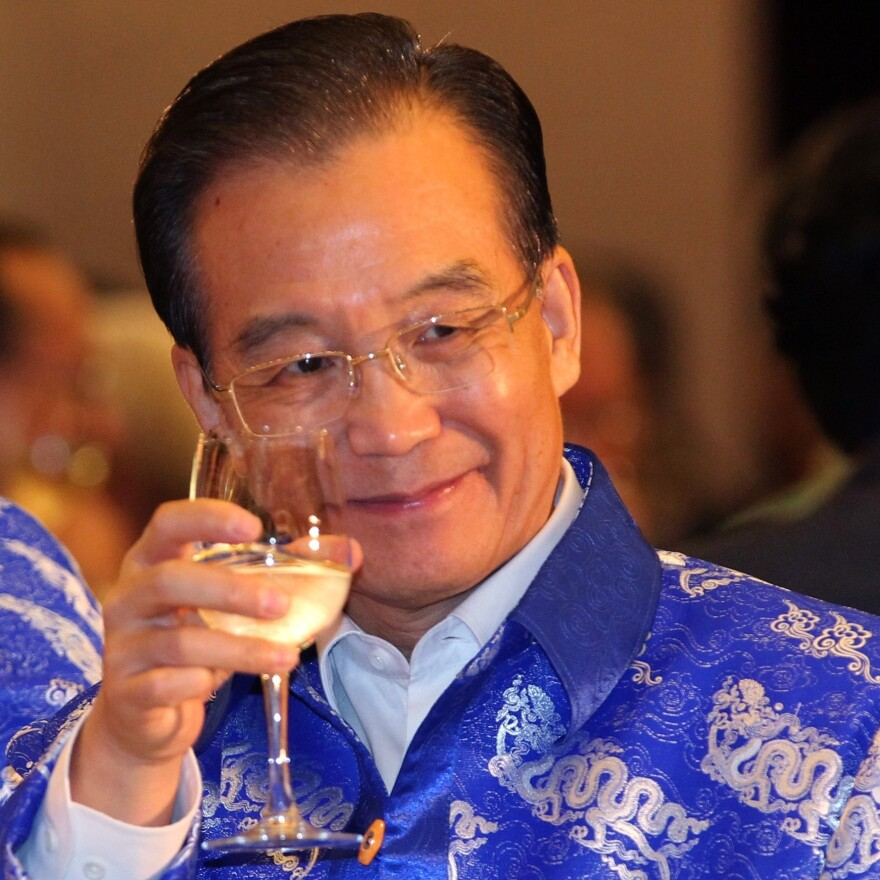 Wen Jiabao, when he was China's premier, at a banquet in 2010.