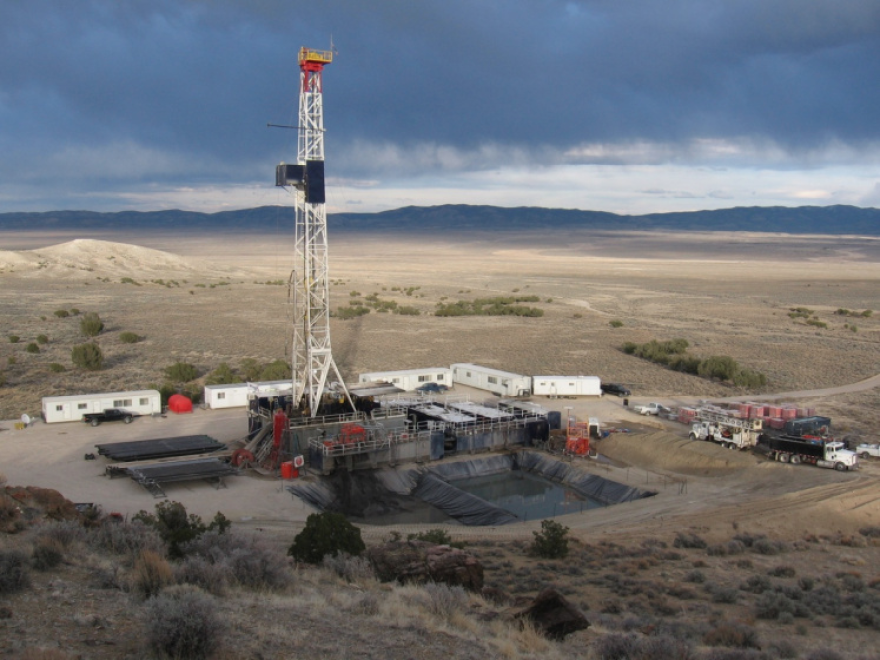 A drilling rig on BLM lands in Nevada.