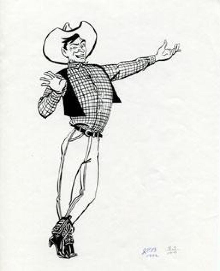One of the earliest sketches of Big Tex.
