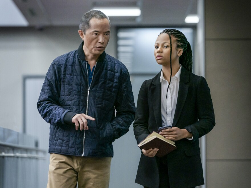 Eric (Ken Leung) and Harper (Myha'la Herrold) have a complicated dynamic on HBO's <em>Industry.</em>
