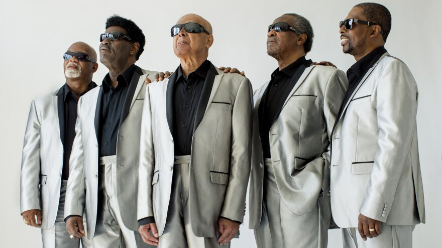 <em>I'll Find a Wa</em><em>y</em> is the latest album in <em></em>The Blind Boys of Alabama's seven-decade run. Left to right: Ricky McKinnie, Paul Beasley, Jimmy Carter, Ben Moore, Joey Williams.