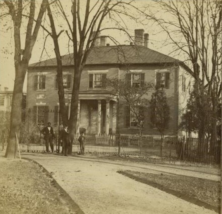 An early photograph of the governor's mansion in Richmond, Va., estimated to be taken between 1876 and 1880, about 25 years after the state constitution established odd-year elections in Virginia.
