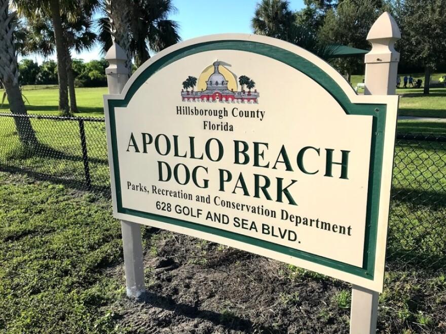 Apollo Beach Dog Park sign