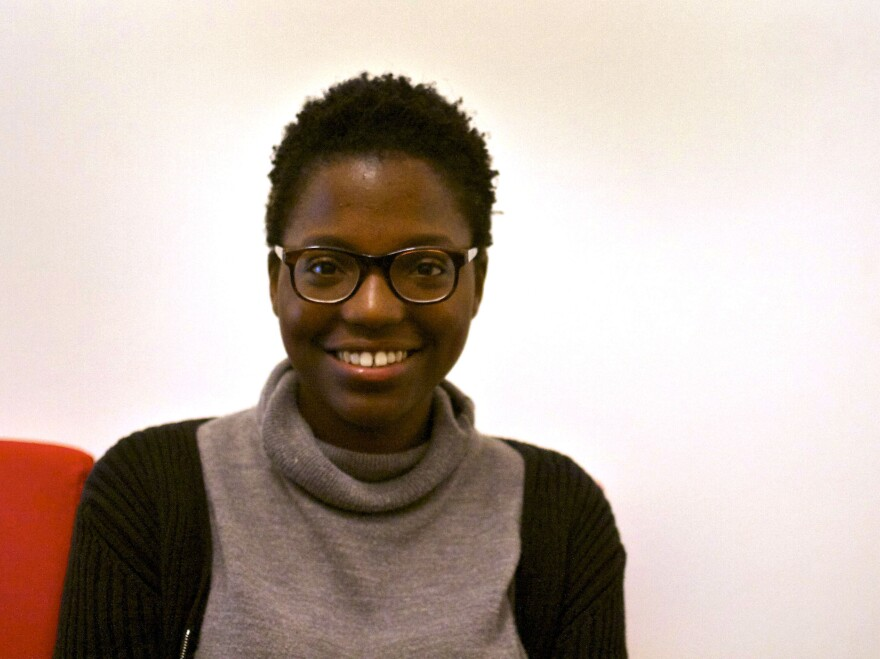 """Jackie Abhulimen, 21, was born in Athens to a Kenyan mother and a Nigerian father and has lived here all her life. In Greek history books, she says, """"the foreigner is always viewed as something negative, something threatening."""""""