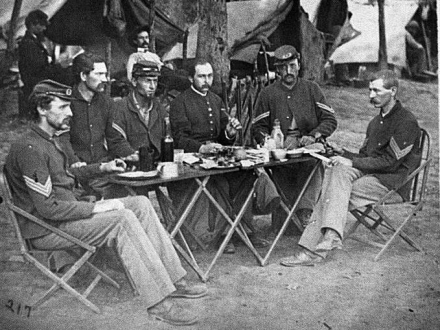 How did the food taste? These faces say it all. Photograph from the main eastern theater of war, Meade in Virginia, August-November 1863.