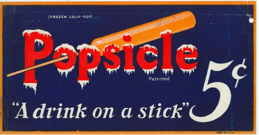 A vintage ad for Popsicle