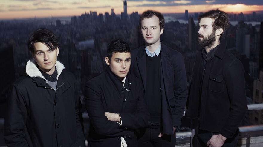 <em></em>Vampire Weekend's third album is titled <em>Modern Vampires of the City</em>. Singer Ezra Koenig (far left) says he sees it as the closing chapter of a trilogy.
