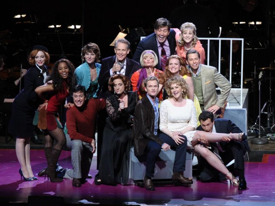 The cast of <em>Company</em> includes Christina Hendricks, Martha Plimpton, Patti LuPone, Neil Patrick Harris, Jon Cryer, Craig Bierko and Stephen Colbert.