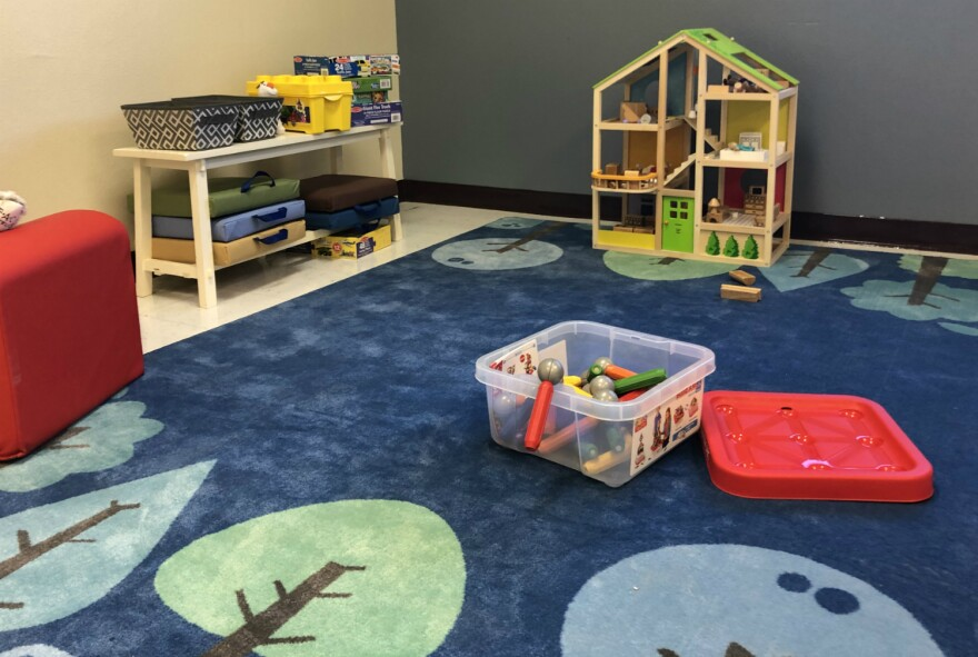 One of the children's therapy rooms at South San ISD's new mental health center.