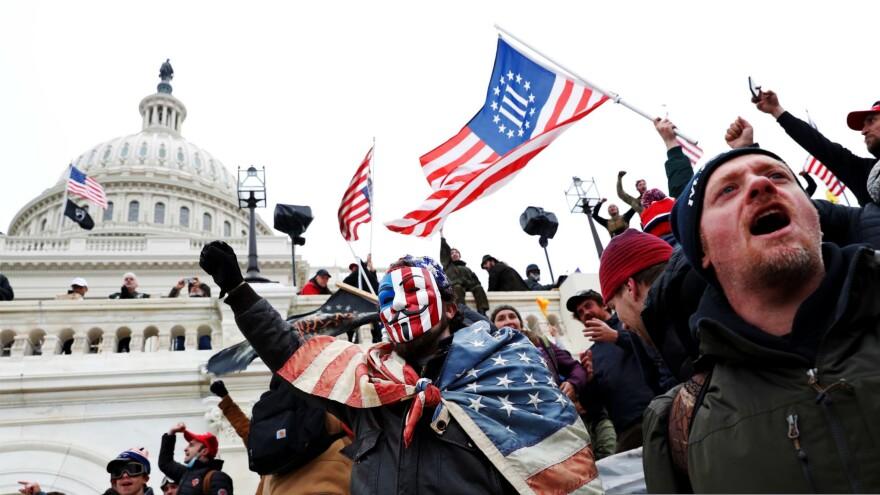 Capitol Hill , Washington , Trump, Supporters, Protest