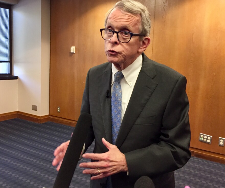 DeWine at a pediatric mental health conference in Dayton.