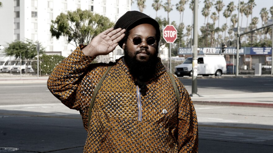 Ras G, photographed in Los Angeles in 2009.