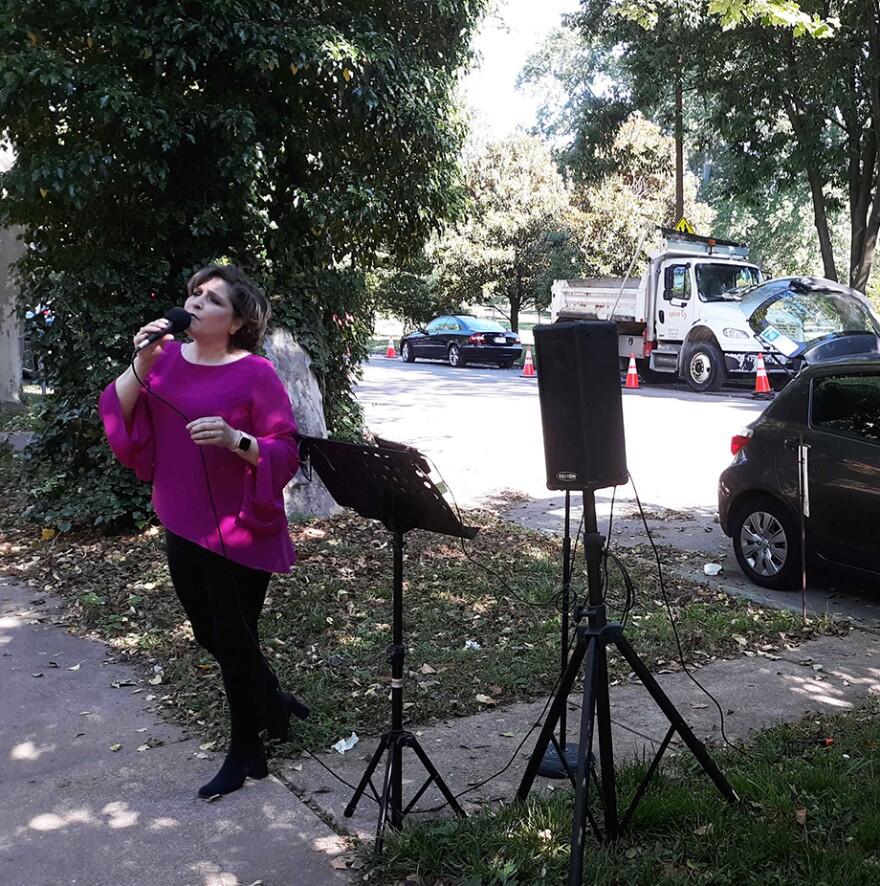 Anna Blair singing in south St. Louis