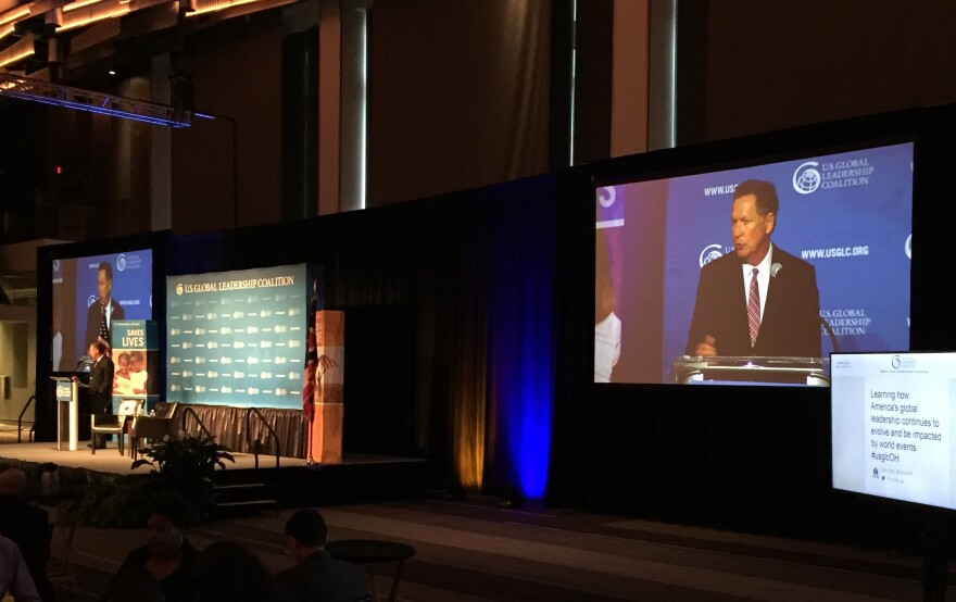photo of John Kasich speaking to the Global Leadership Coalition