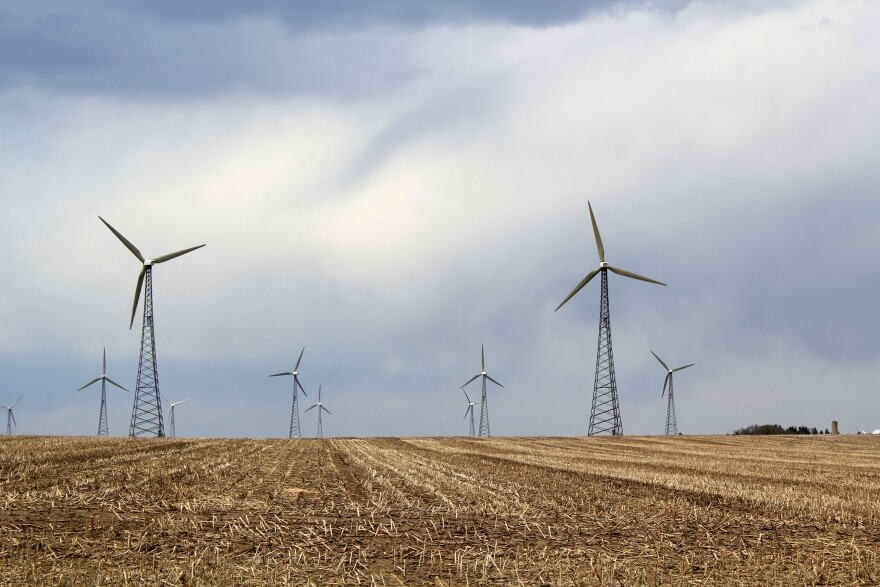 Wind turbines have become a common sight on Iowa's landscape.