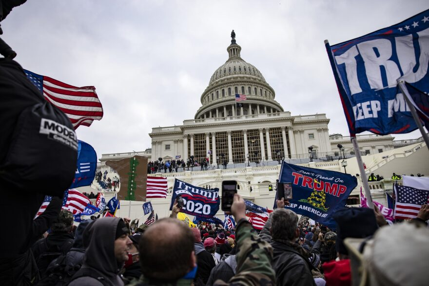 Pro-Trump supporters storm the U.S. Capitol following a rally with President Trump on Jan. 6, 2021 in Washington, DC. (Samuel Corum/Getty Images)