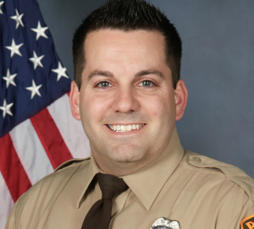 Officer Blake Snyder, 33, was a four-year veteran of the St. Louis County Police Department.