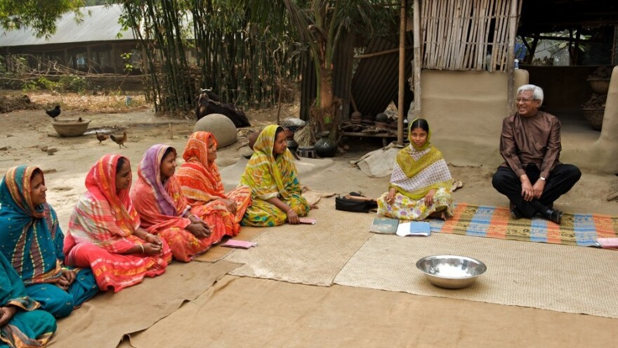 Sir Fazle Hasan Abed quit his job at Shell Oil more than 40 years ago to focus on helping the ultra-poor, like these women in a village in Bangladesh.