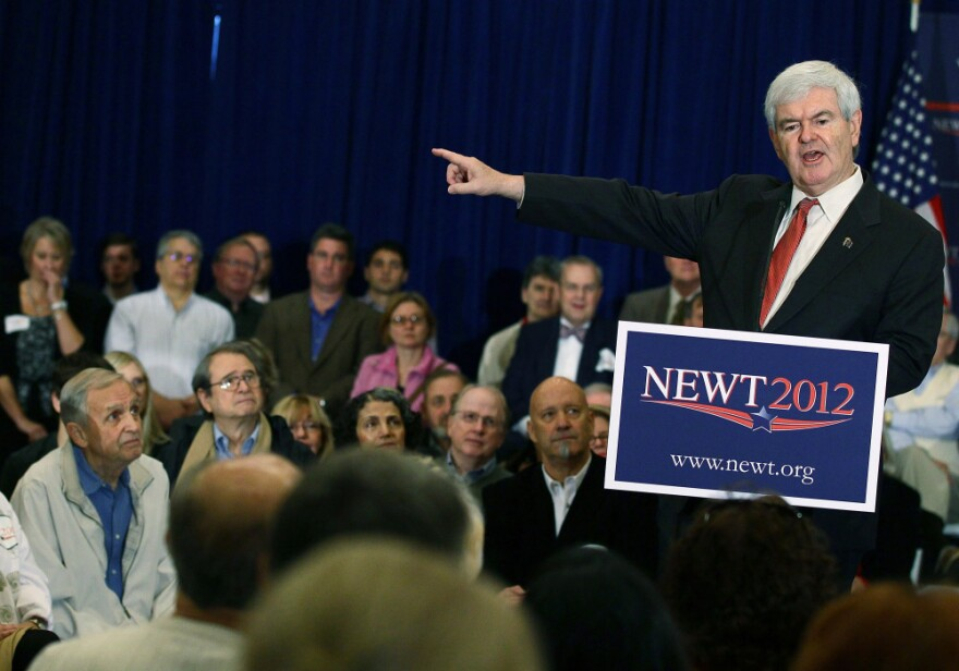 Newt Gingrich speaks during a campaign event at the Laurel Creek Club in Rock Hill, S.C.